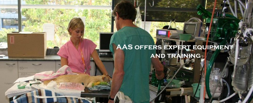 AAS Offers Equipment and Staff Training by Veterinary Anesthesia Specialists